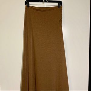 W118 by Walter Baker maxi lined brown skirt